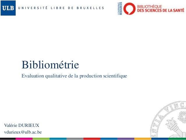 Bibliométrie - Séminaire auteur 2014