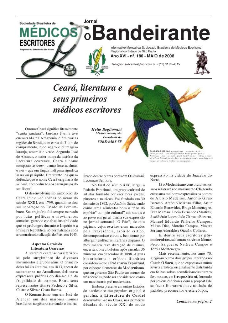 Jornal                                             O    Bandeirante  Informativo Mensal da Sociedade Brasileira de Médicos...