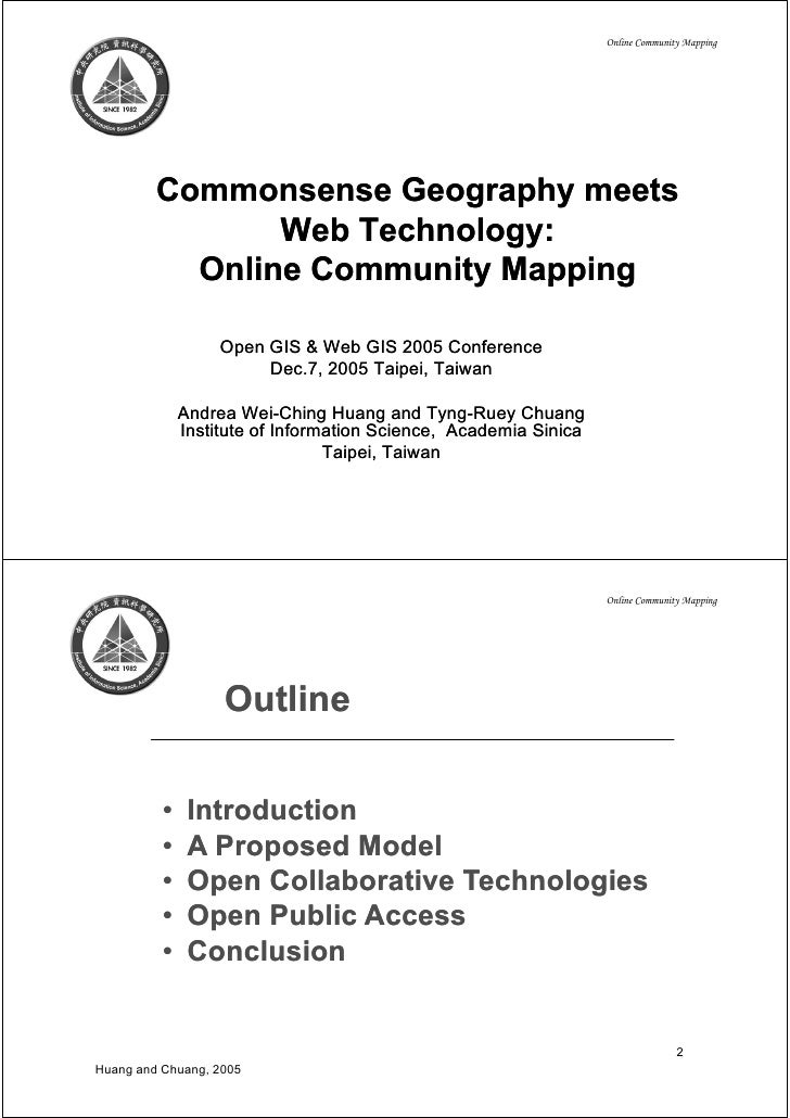 Online Community Mapping              Commonsense Geography meets                 Web T h l                 W b Technology...