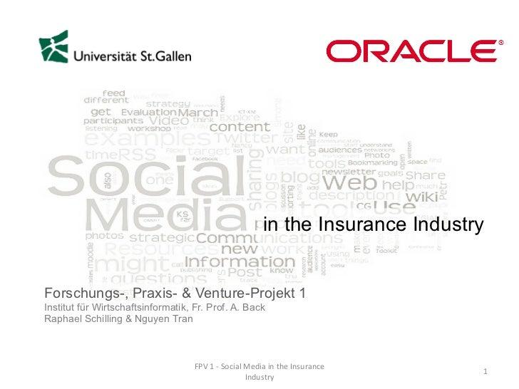 Forschungs-, Praxis- & Venture-Projekt 1 Institut für Wirtschaftsinformatik, Fr. Prof. A. Back Raphael Schilling & Nguyen ...