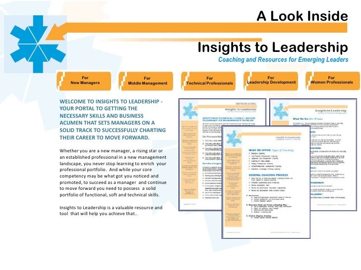 A Look Inside                                                           Insights to Leadership                            ...