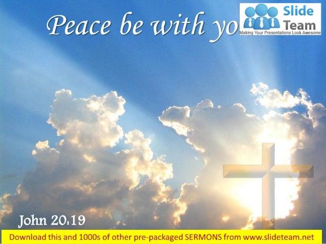 0514 john 2019 peace be with you power point church sermon