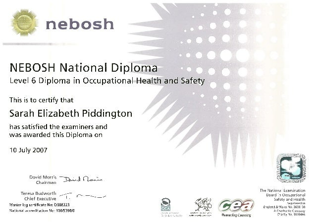 Health And Safety Certificate Template