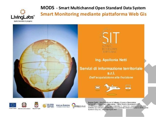 Ing. Apollonia Netti Servizi di informazione territoriale s.r.l. Dall'acquisizione alla fruizione MODS - Smart Multichanne...