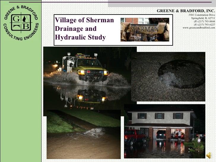 Sherman Drainage and Hydraulic study