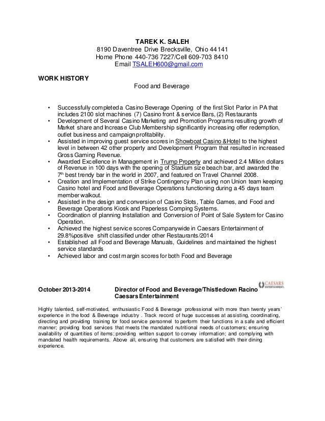 tarek saleh most recent resume 2