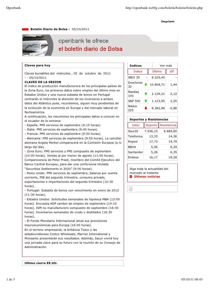Boletin Diario 05/10/2011
