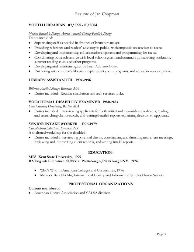 chronological resume sample academic librarian pg2 ah resume 1 ah top - Sample Academic Librarian Resume