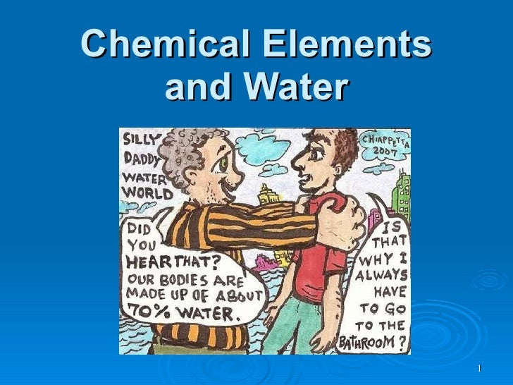 Chemical Elements and Water