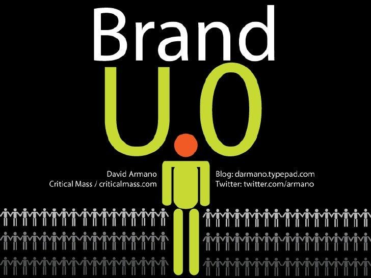 Brand U.0 David Armano