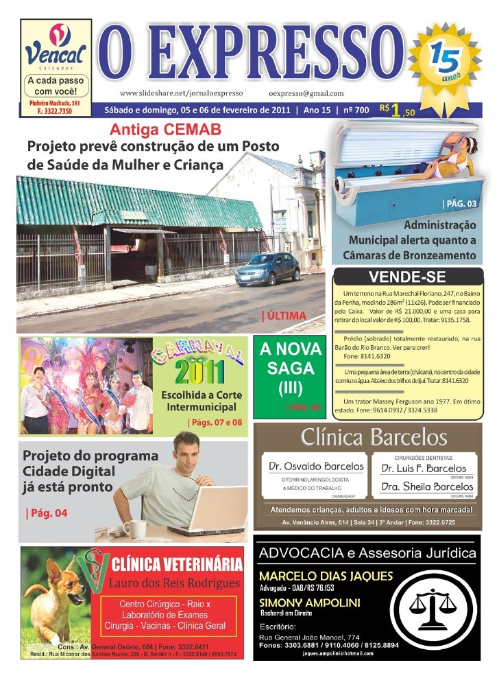 2       Jornal O EXPRESSO                                                                                             Sába...