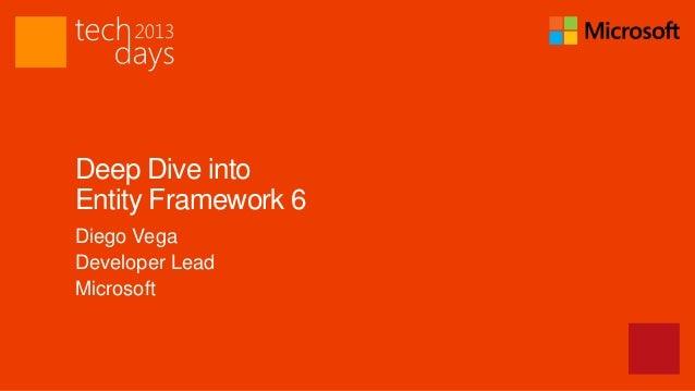 Deep Dive intoEntity Framework 6Diego VegaDeveloper LeadMicrosoft