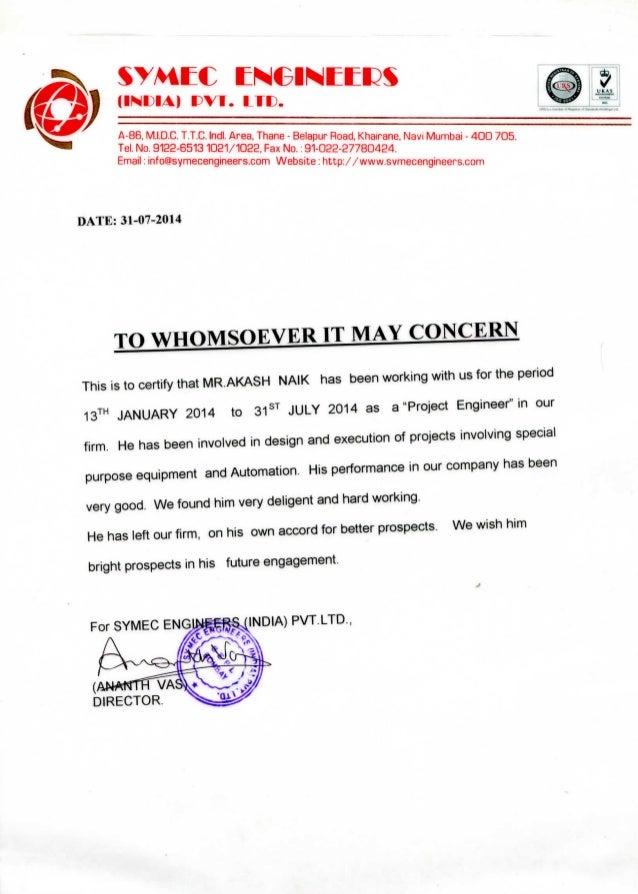 resigniation letter
