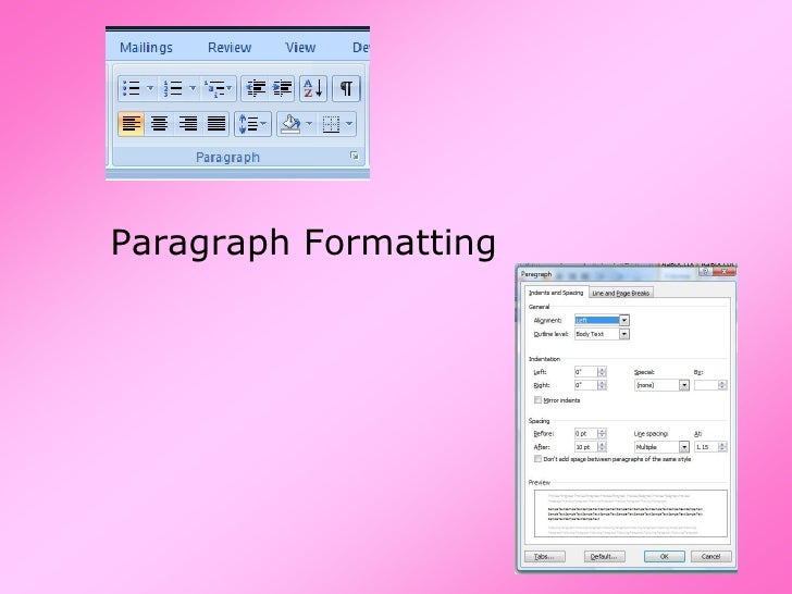 2010 05 Format Paragraphs
