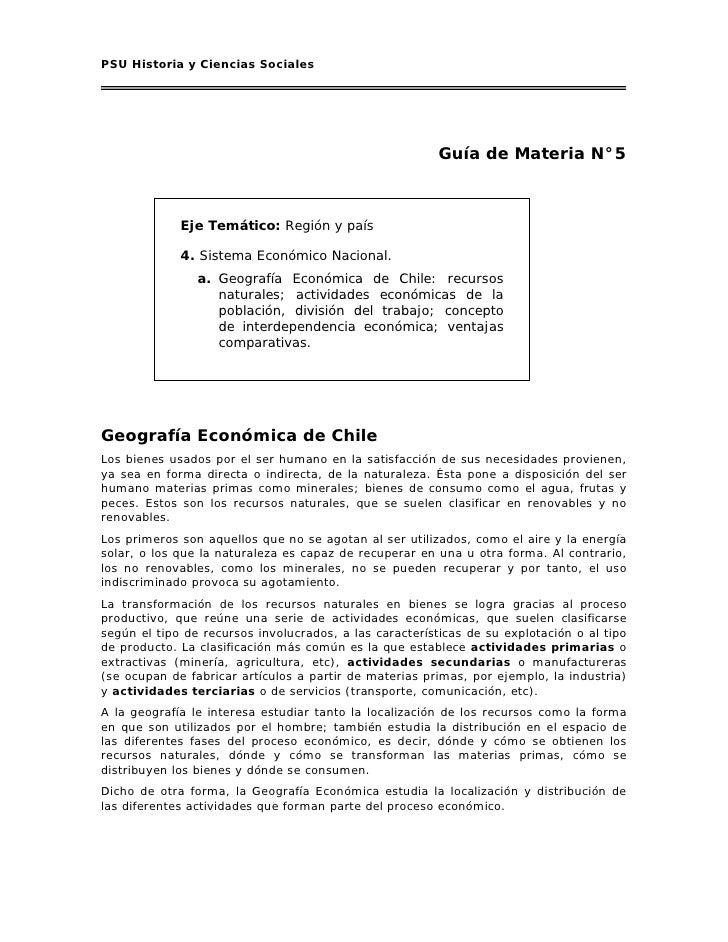 05 geografía económica de chile