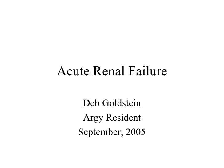 05 Goldstein   Acute Renal Failure