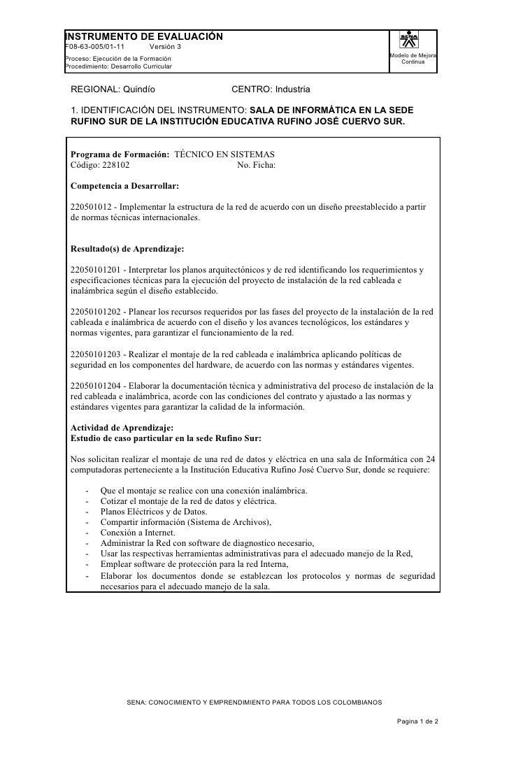 INSTRUMENTO DE EVALUACIÓNF08-63-005/01-11            Versión 3                                                            ...