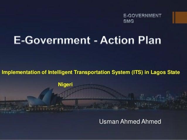 [e-Government Program Action Plan : Lagos, Nigeria]