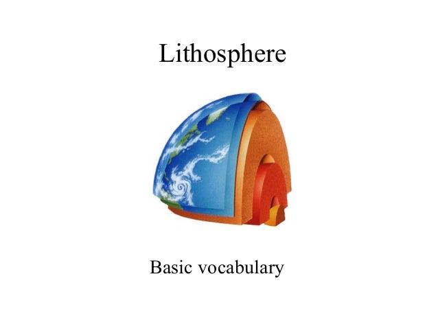 Lithosphere Basic vocabulary