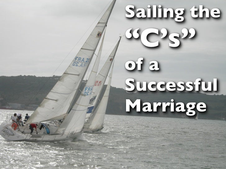 """Sailing the""""C's""""of aSuccessfulMarriage"""