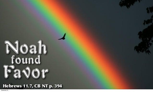 Noah Found Favor