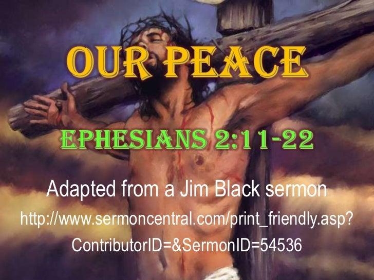 Adapted from a Jim Black sermonhttp://www.sermoncentral.com/print_friendly.asp?        ContributorID=&SermonID=54536