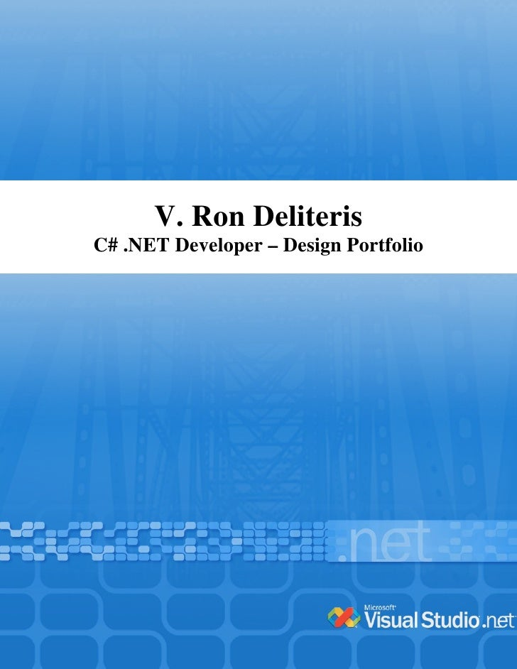 V. Ron Deliteris C# .NET Developer – Design Portfolio