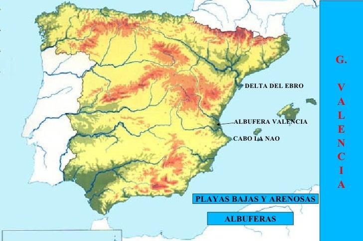Delta Del Ebro Mapa Cabo la Nao Delta Del Ebro