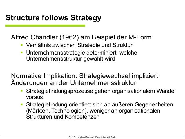 structure follows strategy The key philosophy of a transnational organization is adaptation to all environmental situations and achieving flexibility by  structure follows strategy.