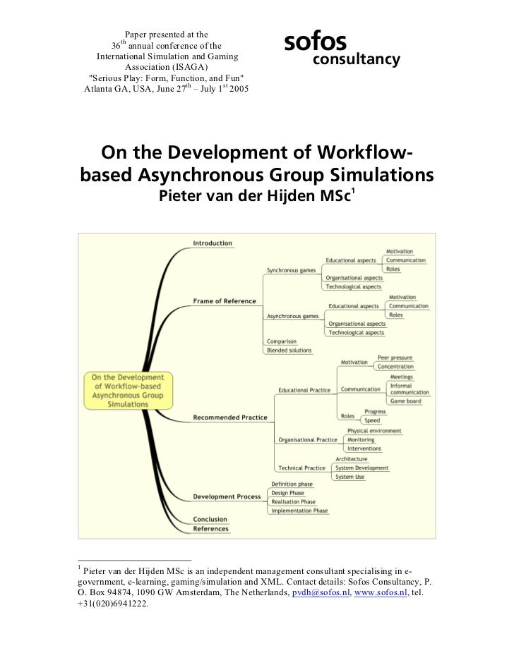 On the Development of Asynchronous Workflow-based Group Simulations [text]