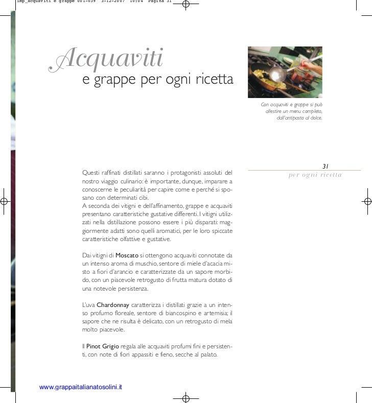 imp_acquaviti e grappe 001-039   3-12-2007   10:04   Pagina 31             Acquaviti                        e grappe per o...