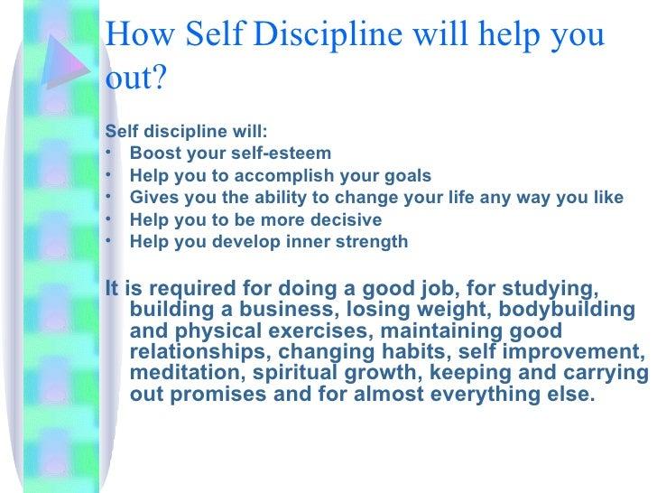 Value of discipline essay