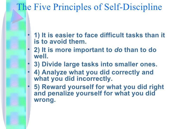 Essay importance self discipline