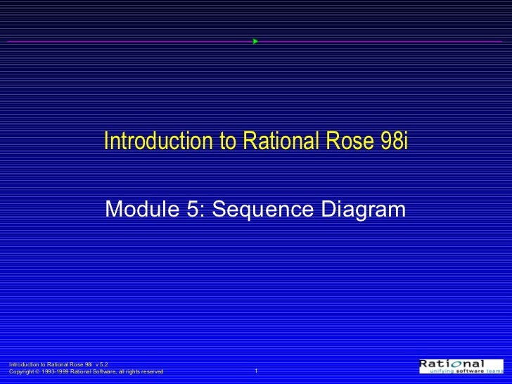 Introduction to Rational Rose 98i Module 5: Sequence Diagram