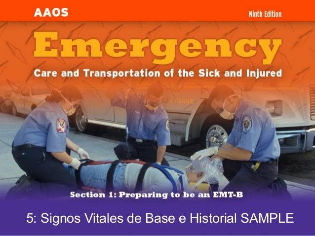 5: Signos Vitales de Base e Historial SAMPLE