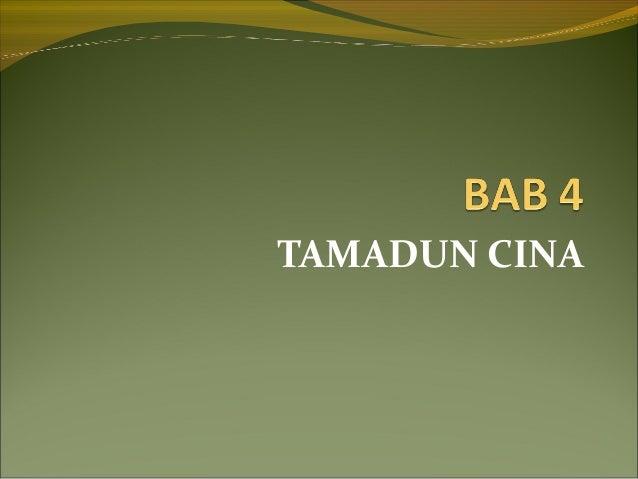 TAMADUN CINA