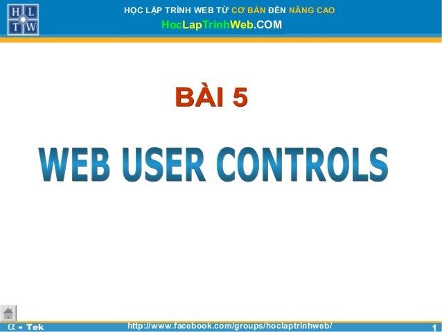 Bài 5 - Web User Controls Asp.net