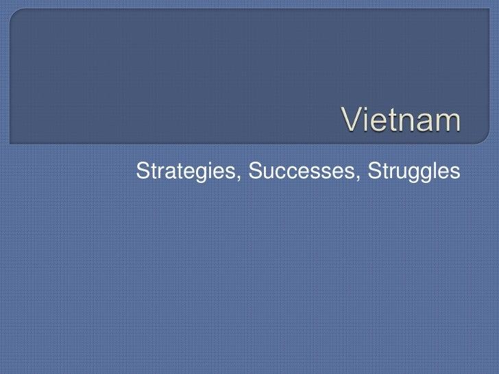Vietnam<br />Strategies, Successes, Struggles<br />