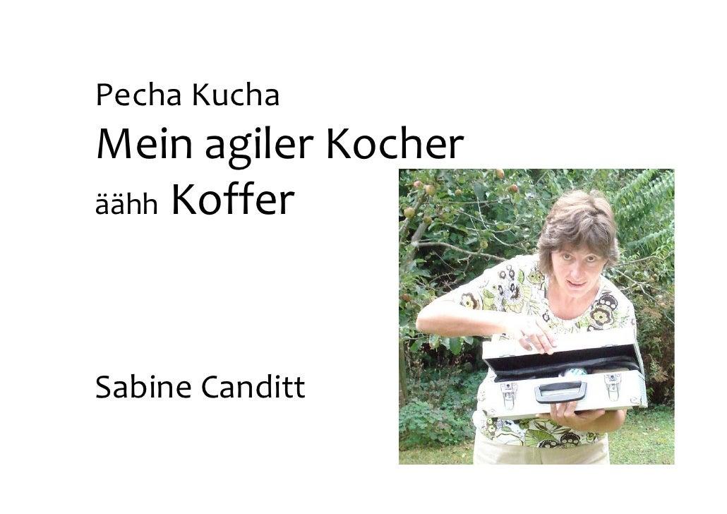 """Pecha-Kucha-Session WJAX 2009 """"Mein Agiler Koffer"""" von Sabine Canditt"""