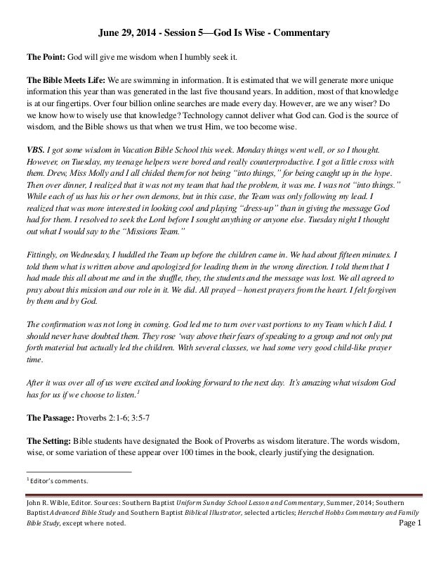 06.29.14.god.wise.prov.2.3.commentary