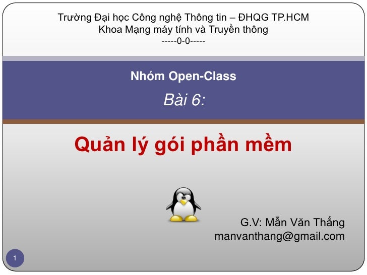 Lesson 6 - Administering Linux System (2)