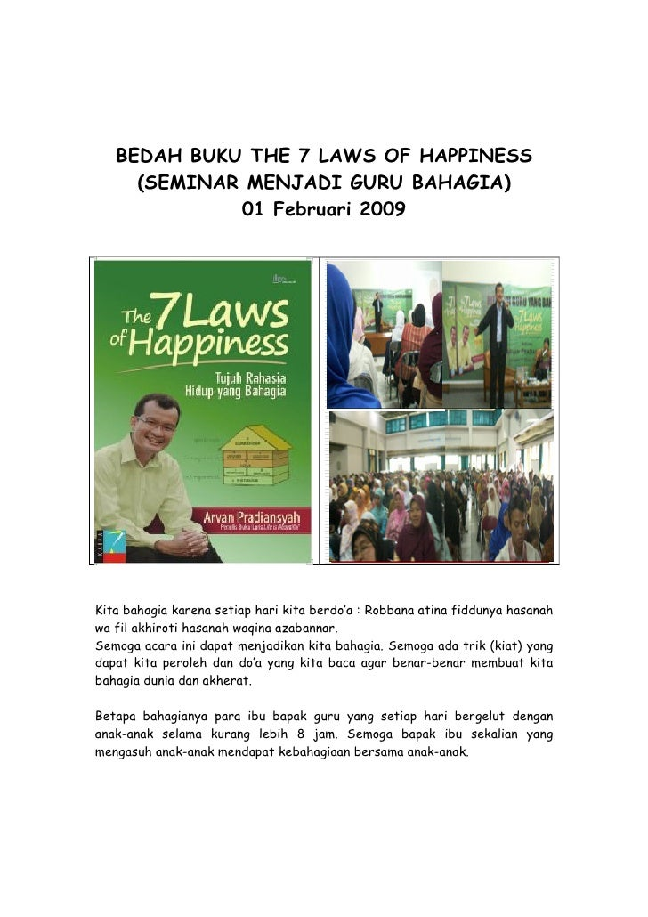 Bedah Buku 7 Laws Happiness