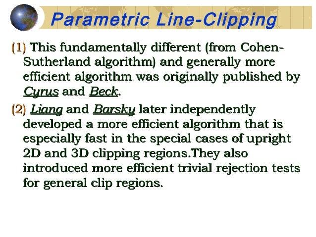 cohen sutherland line clipping algorithm pdf
