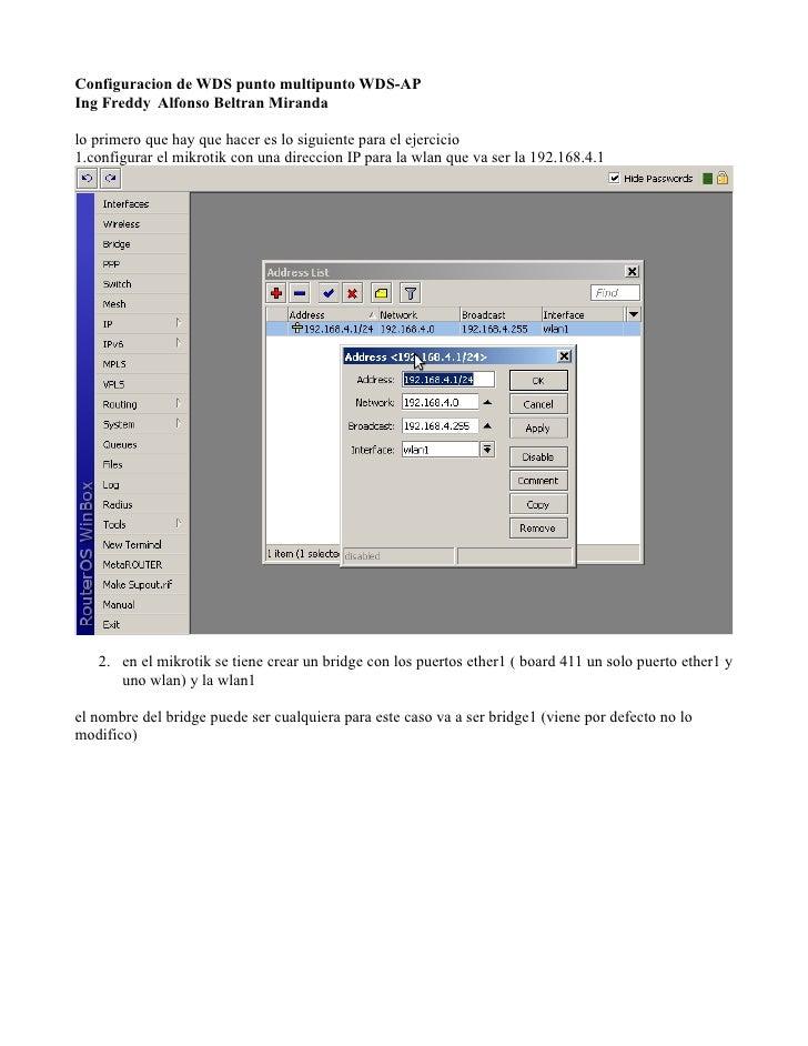 Configuracion wds mikrotik ubiquiti