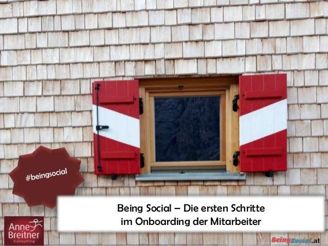 Being Social – Die ersten Schritteim Onboarding der Mitarbeiter