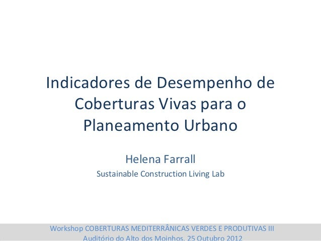Helena Farrall - Sustainable Construction Living Lab