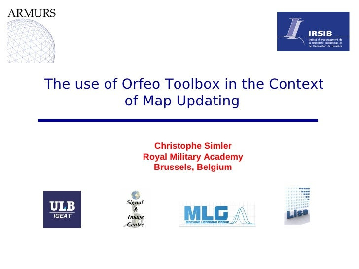 The use of Orfeo Toolbox in the context of map updating