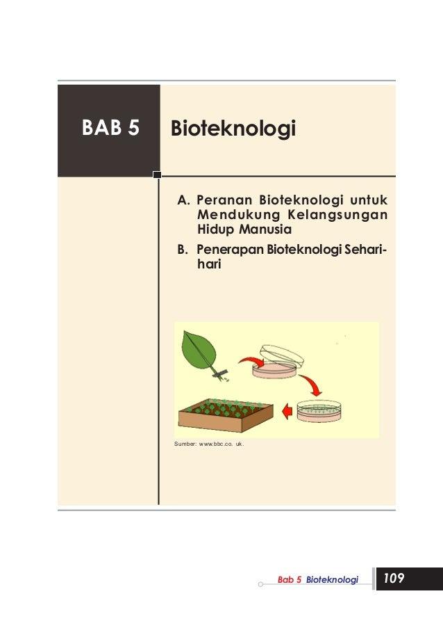 BAB 5   Bioteknologi        A. Peranan Bioteknologi untuk           Mendukung Kelangsungan           Hidup Manusia        ...