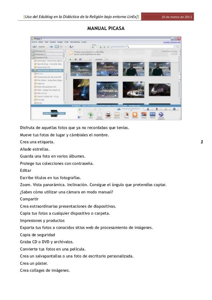 Manual Picasa
