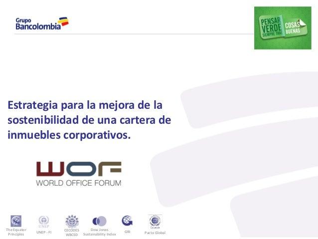 Gestión Sostenible de los inmuebles de Bancolombia